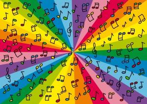 Nutki na kolorowym tle - Piosenki dla dzieci po angielsku