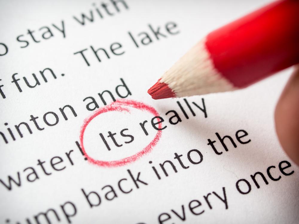 błędy w pisaniu po angielsku