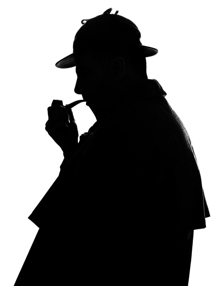 sylwetka Sherlocka Holmesa - angielskie cytaty