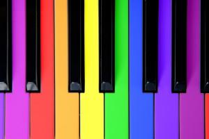Piosenki o kolorach dla dzieci po angielsku - kolorowa klawiatura do keyboardu