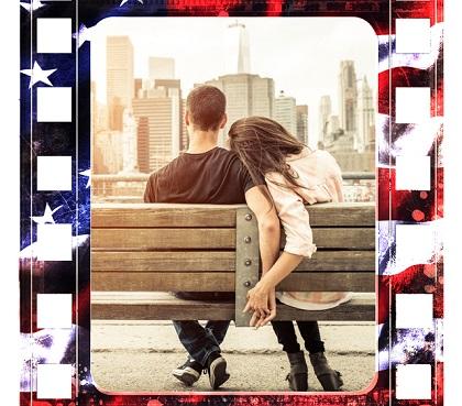 Zakochana para na ławce